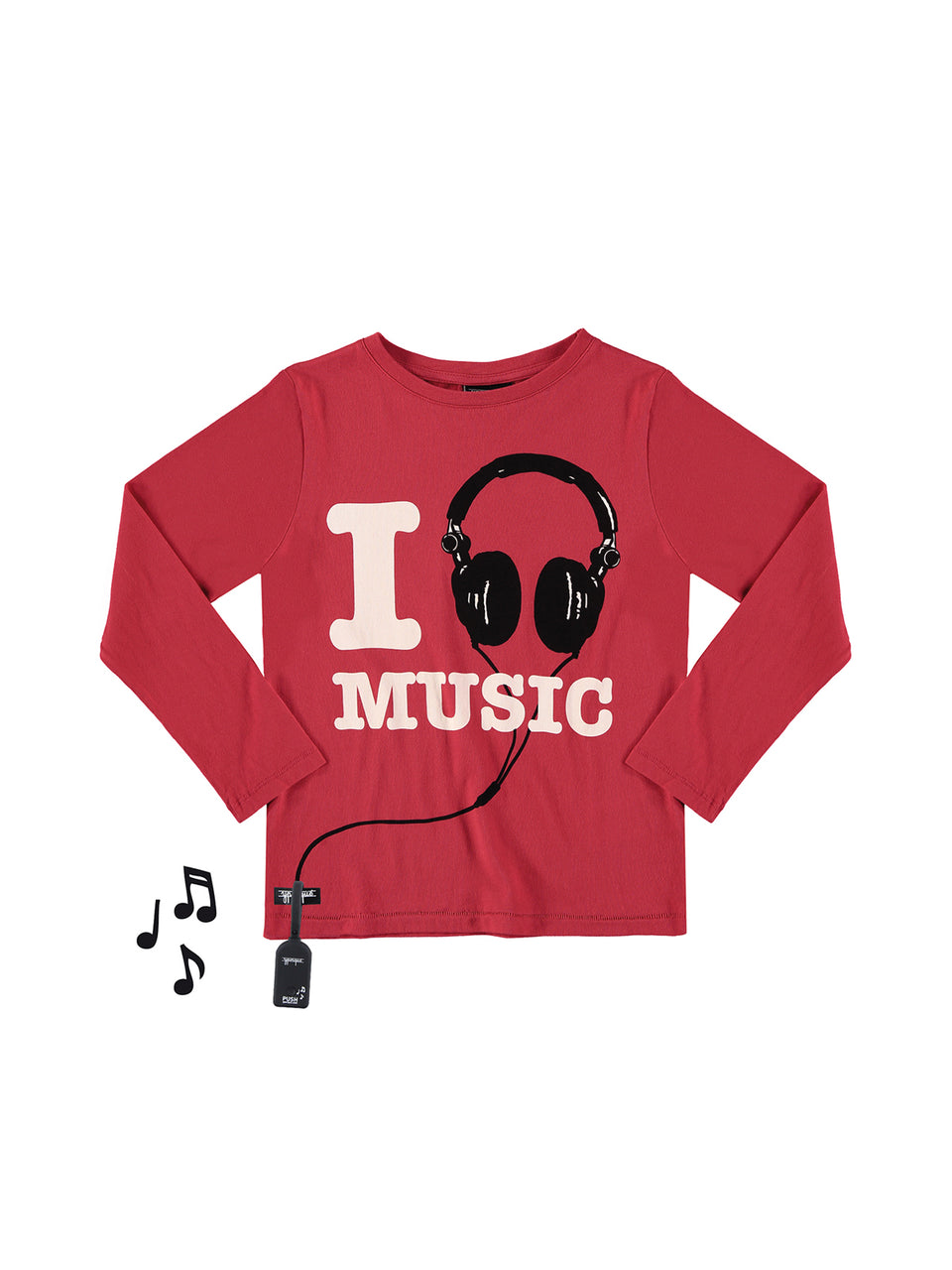 LOVE MUSIC TEE - red - Jersey