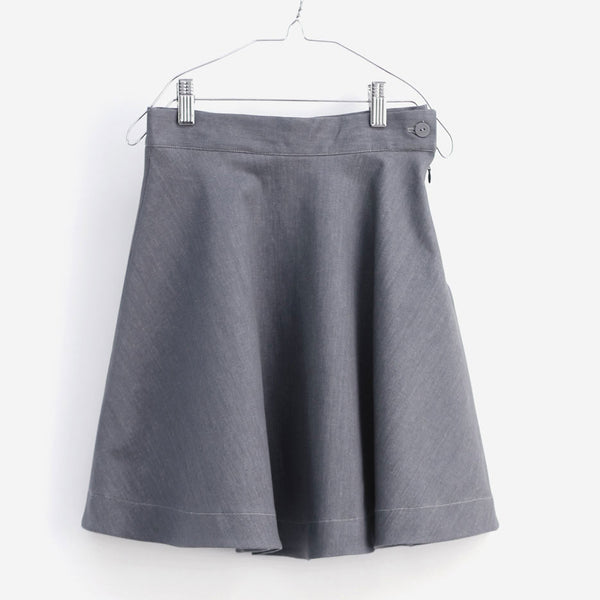 Carlota Skirt, Grey Denim