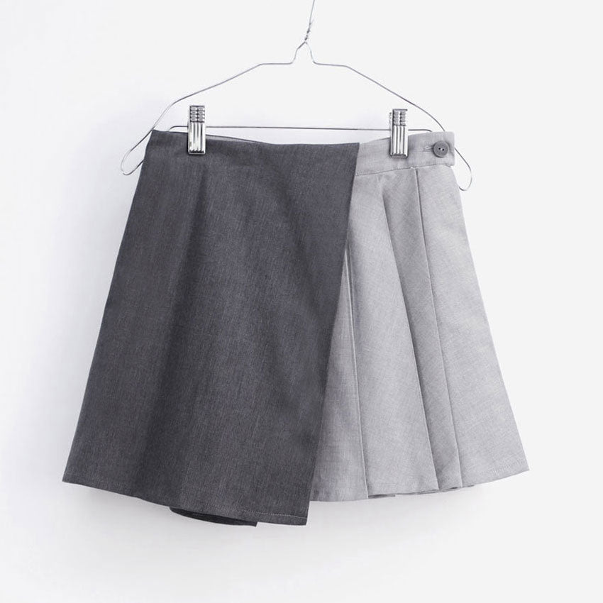 Hayako Skirt, Grey Denim