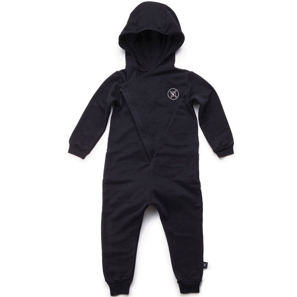 Hooded Overall, Black