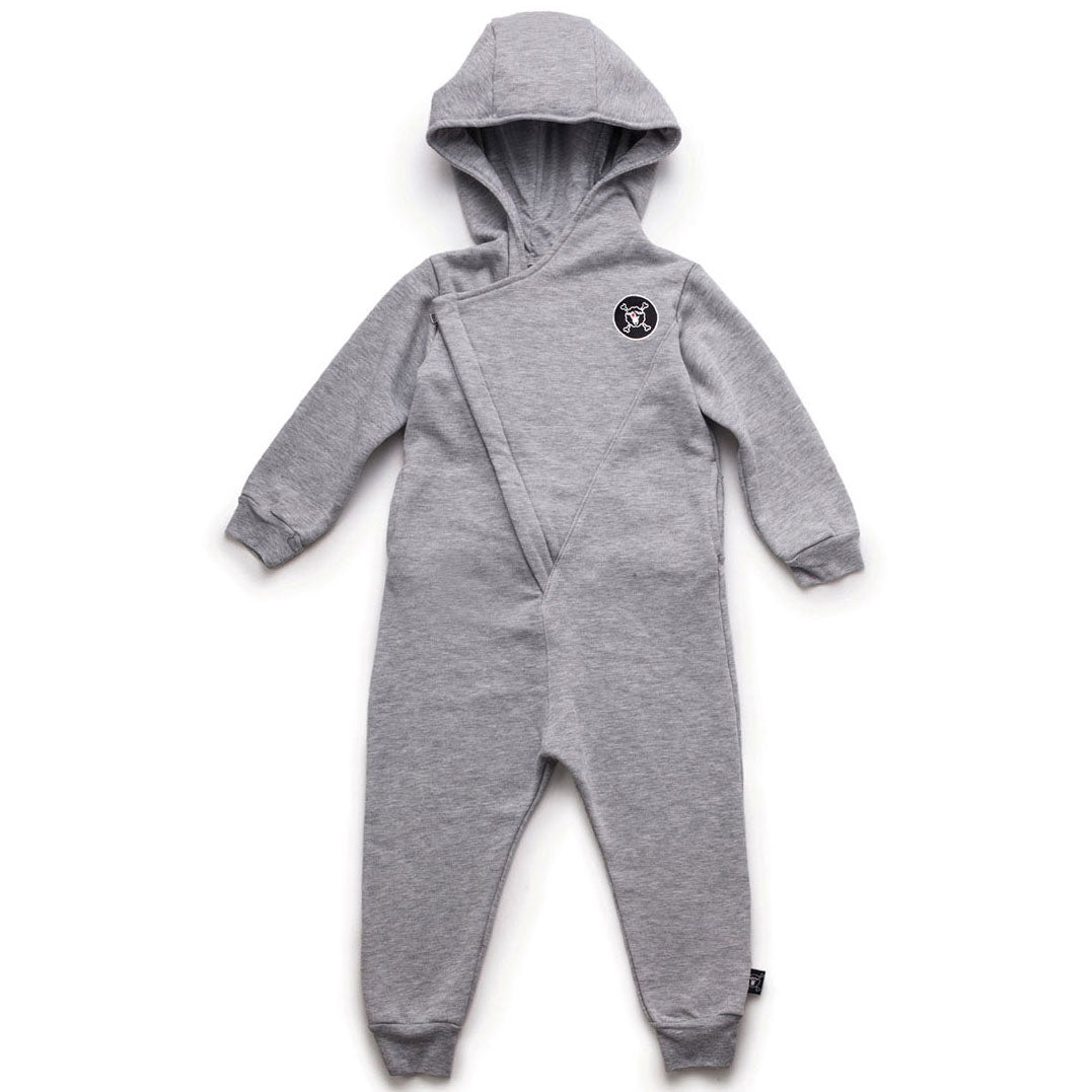 Hooded Overall, Heather Grey