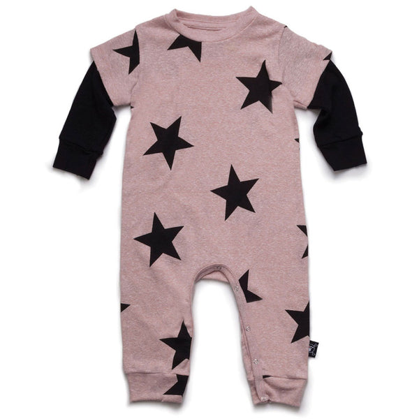 Star Playsuit, Powder Pink
