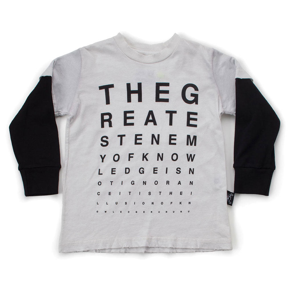 Vision Test T-shirt, White