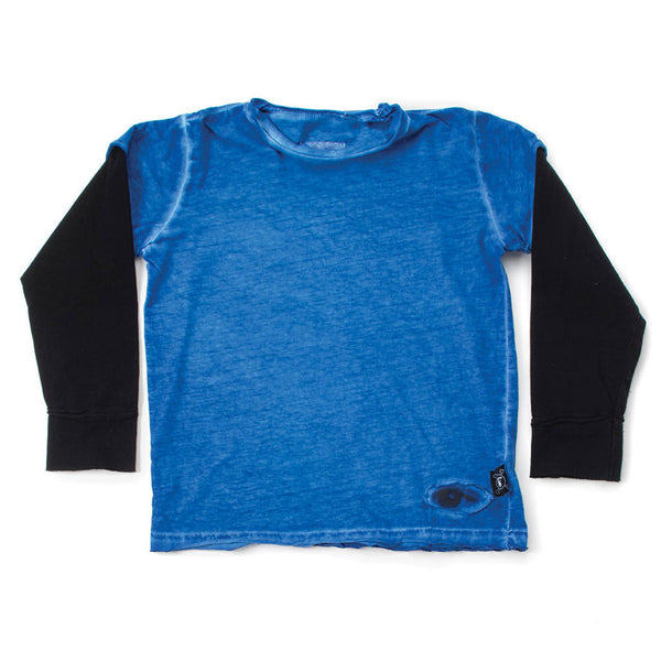 Tiny Eye Patch T-shirt, Dirty Blue