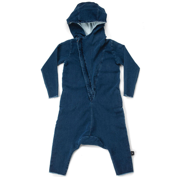 Hooded Overall Denim