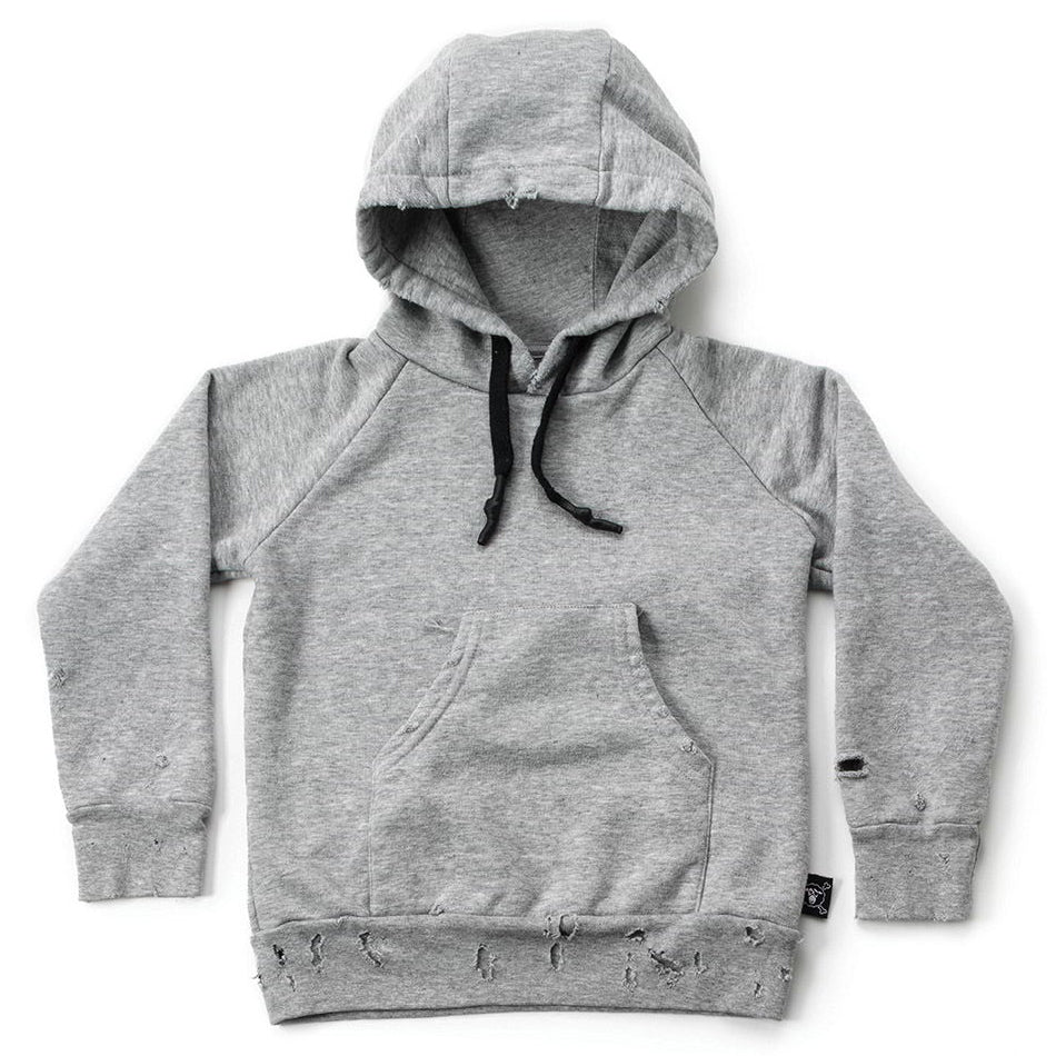 Torn Hoodie, Heather Grey