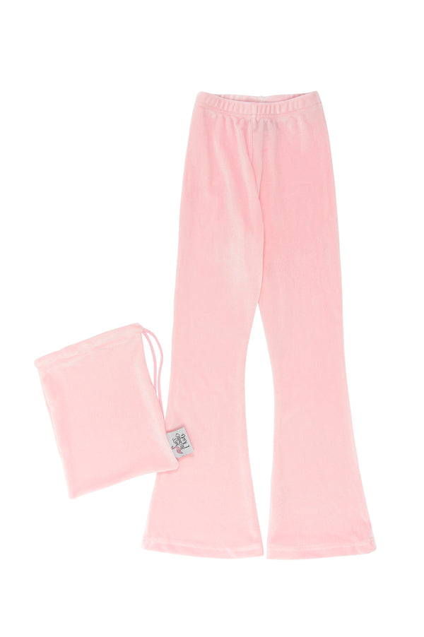 Pink Velvet Bell Bottoms