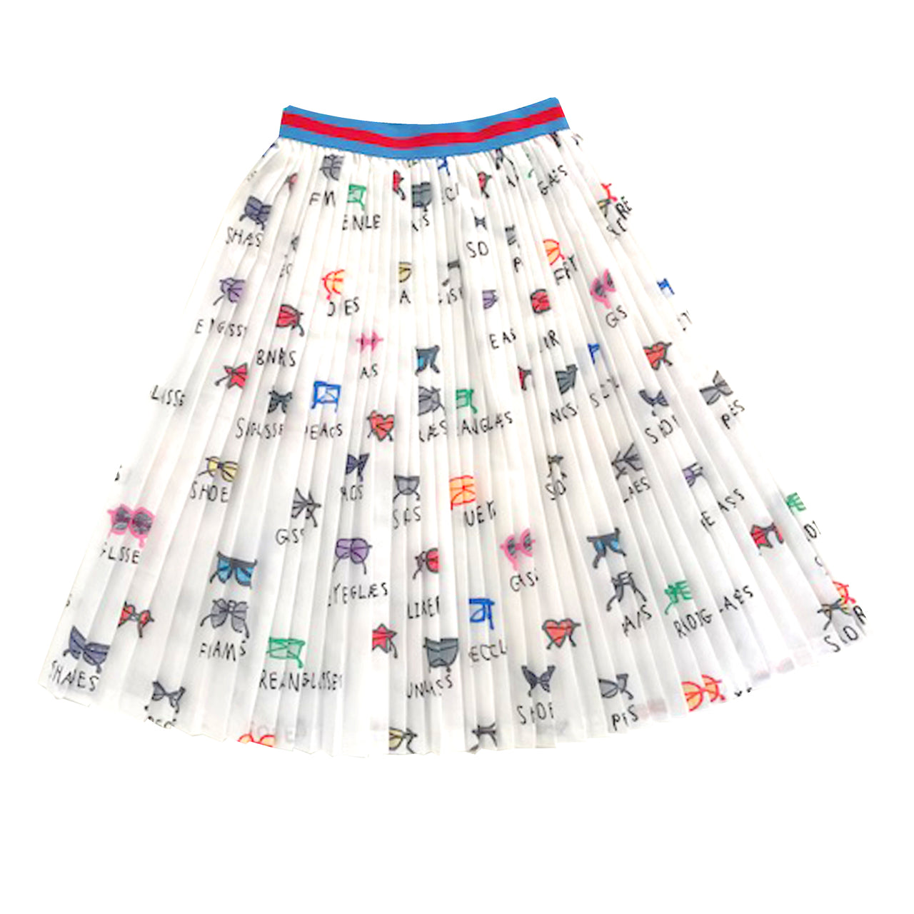 Spectacles Pleated Skirt
