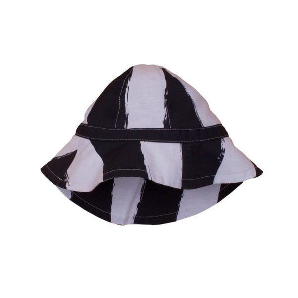 Baby Summer Hat, Black Stripes
