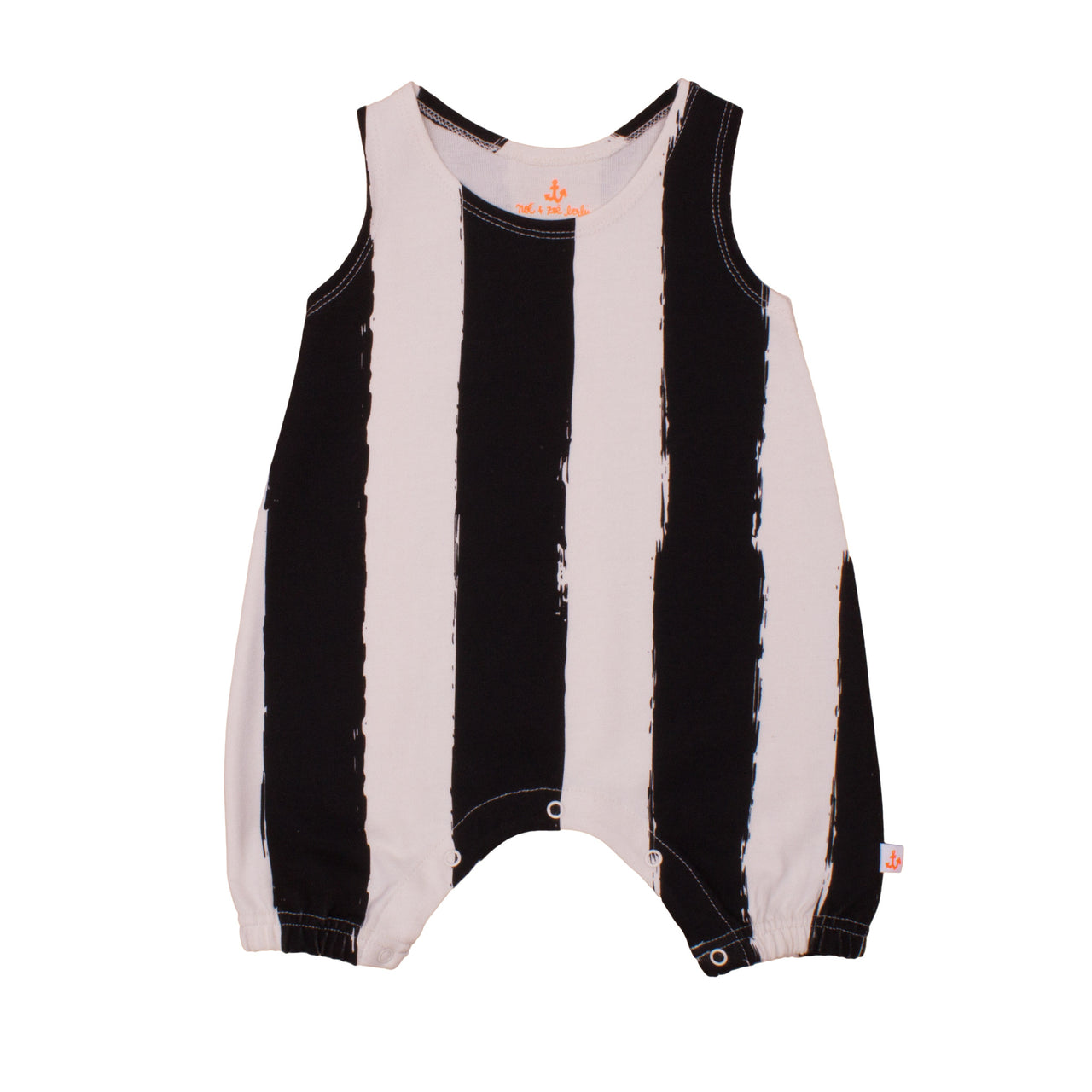 Baby Tank Overall, Black Stripes