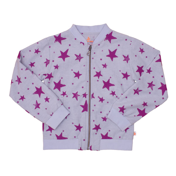 Bomber Jacket, Purple Stars
