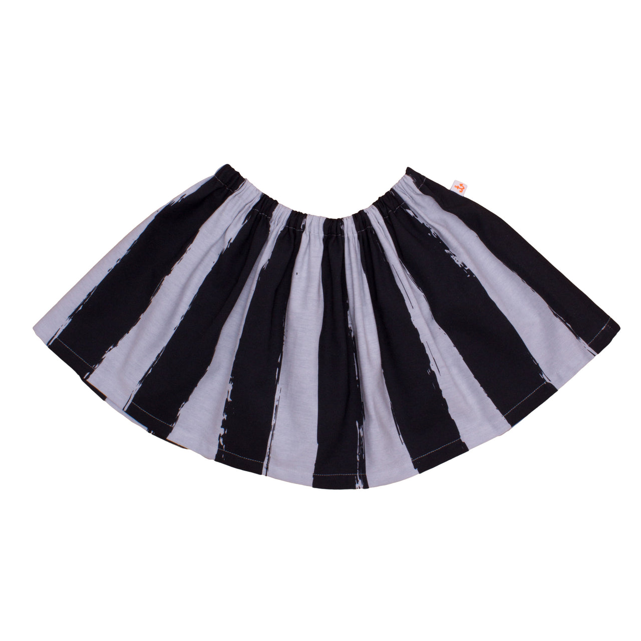 Roller Skirt, Black Stripes