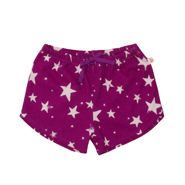 Kids Shorts, Purple Stars