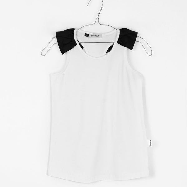 Olympia T-shirt, White & Black