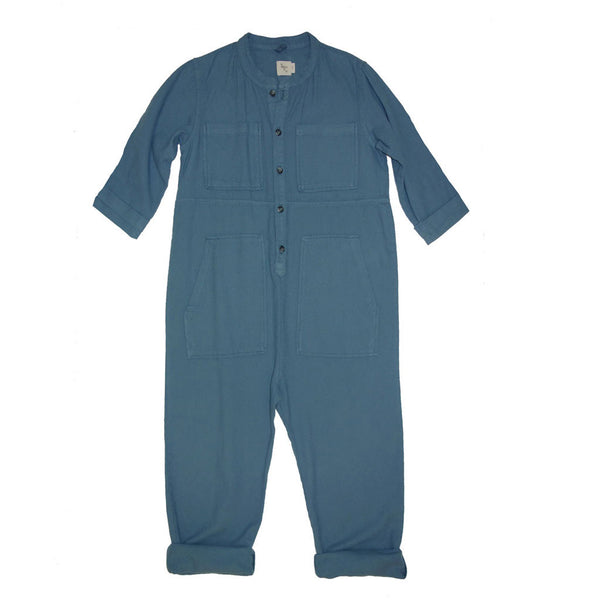 Saturn Flannel Jumpsuit, Space Blue
