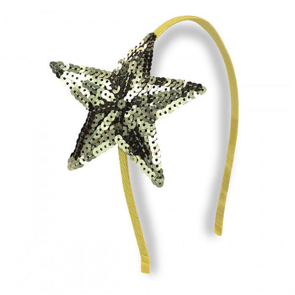 Sequin Star Headband, Gold