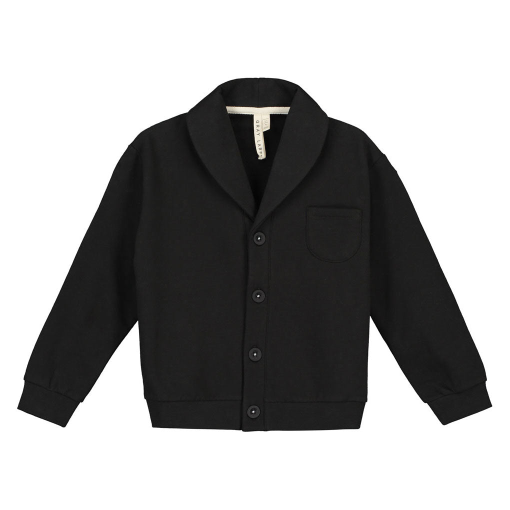 Shawl Collar Cardigan, Nearly Black