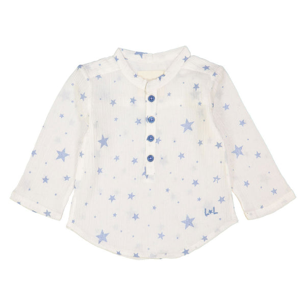 GD Père, Baby Shirt, White & Light Blue
