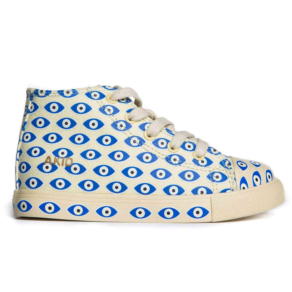 Anthony Hi, Cream evil eye canvas