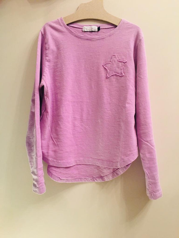IRIS LONG SLEEVE T-SHIRT-PINK