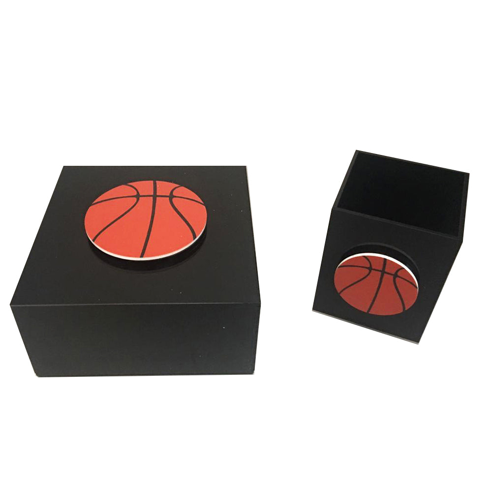 Black Plexiglass Basketball
