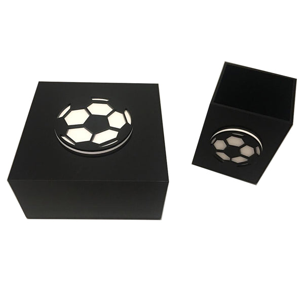 Black Plexiglass Soccer Ball