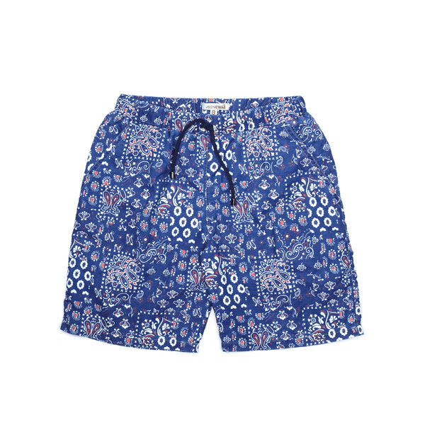 Booby Swim Shorts, Blue Stone