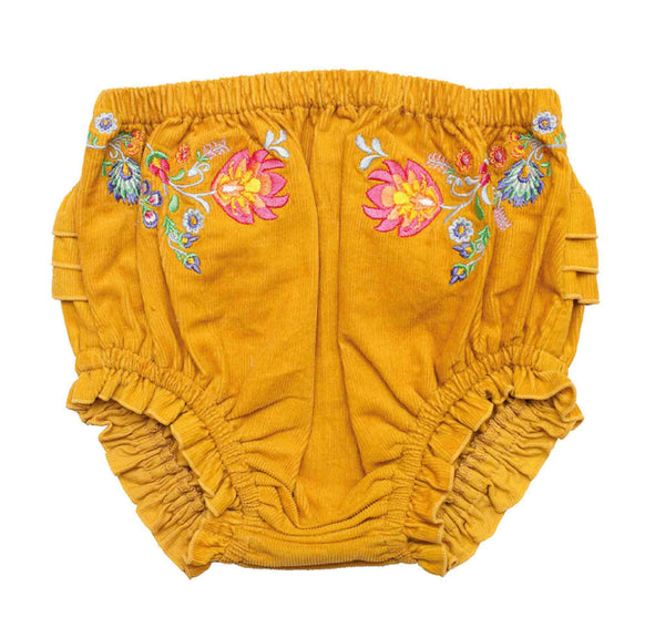 Tiny Dancer Corduroy Embroidered Bloomers