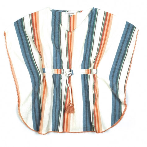 Kids Poncho Multi Stripes