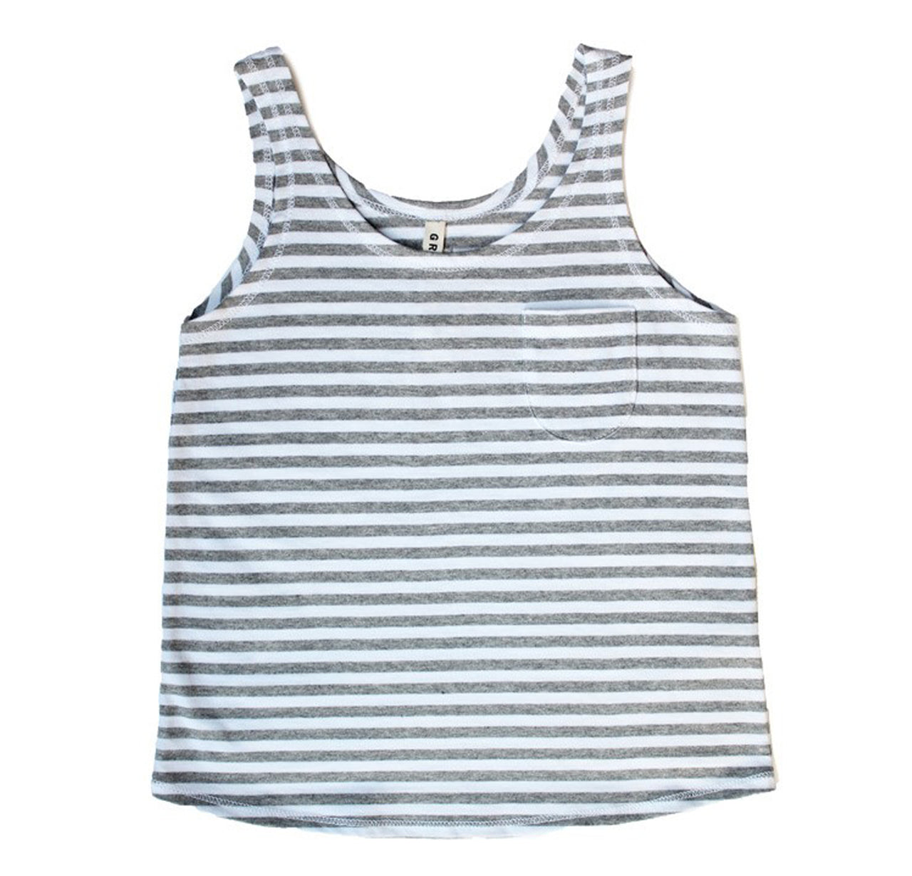 Summer Tank Top, Grey Mel/White