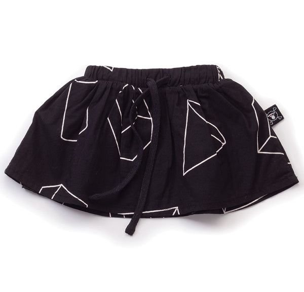 Geometric Skirt, Black