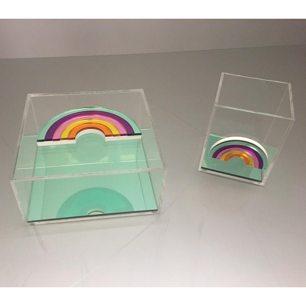 Clear Plexiglass Rainbow - Green