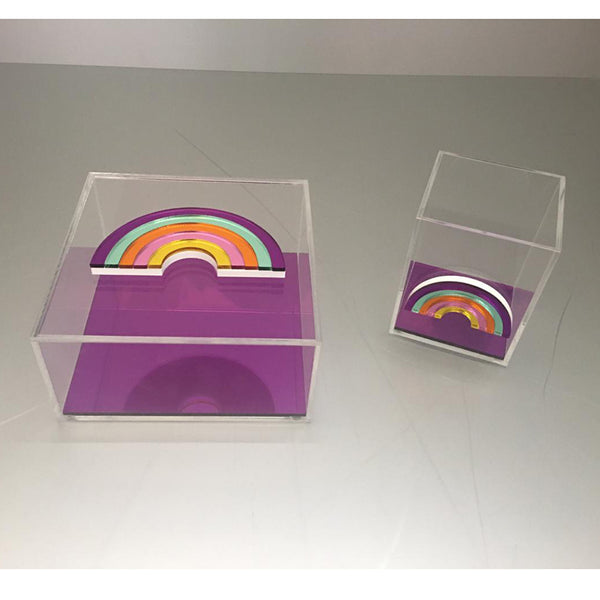 Clear Plexiglass Rainbow - Purple