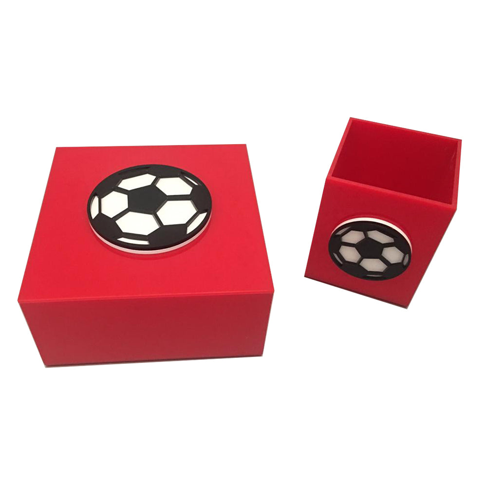 Red Plexiglass Soccer Ball
