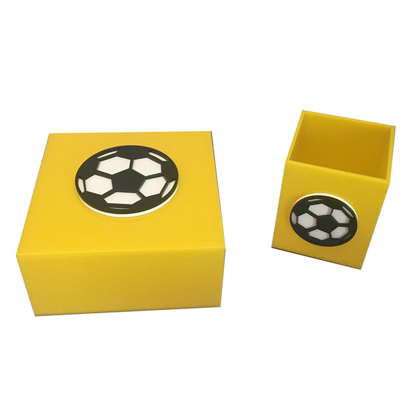 Yellow Plexiglass Soccer Ball
