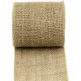 Kel Toy High Quality Jute Burlap Ribbon 4 Inch By 10 Yard
