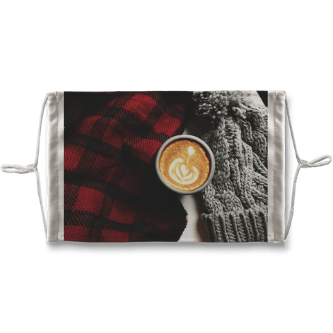 Gifts for Coffee Lovers Sublimation Face Mask + 10 Replacement Filters