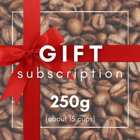 Speciality coffee gift subscription