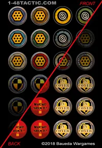 24 Grenade Markers Punchboard