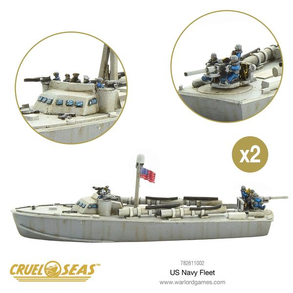 Cruel Seas: - American Starter Set US Navy Fleet
