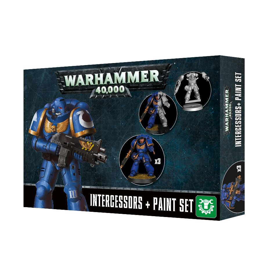 Warhammer 40,000 Space Marines Intercessors Paint Set