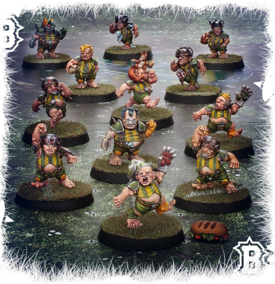 The Greenfield Grasshuggers Halfling Blood Bowl Team