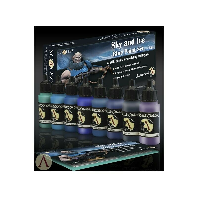Scale 75 Sky and Ice Blue Paint Set