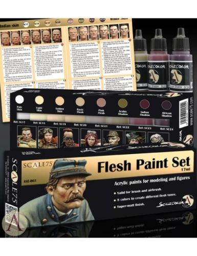 Scale 75 Flesh Paint Set