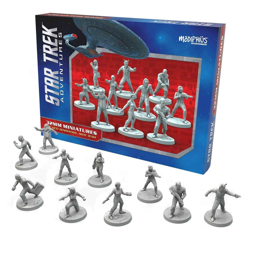 Star Trek Adventures Miniatures: Next Generation Away Team