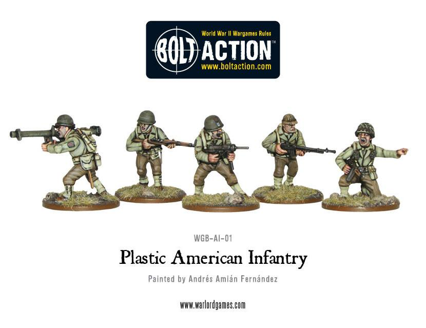 WWII American Infantry plastic boxed set