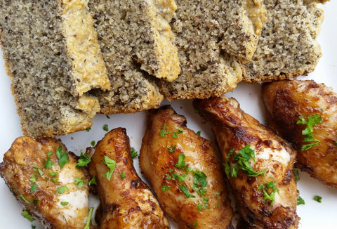 Jerk Chicken with Linseed and Chia Bread