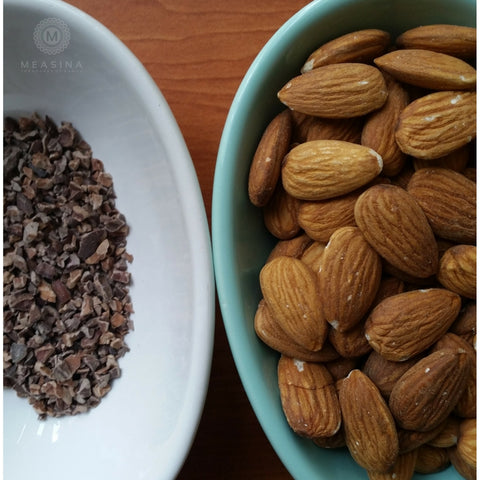 Cacao Nibs and Almonds