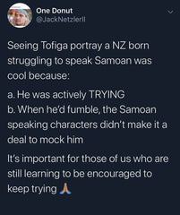 Samoans learning to speak Samoan
