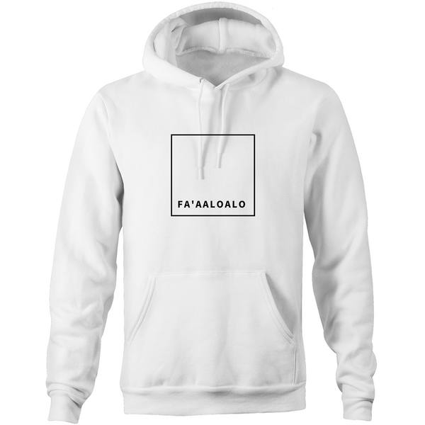 Fa'aaloalo AS Colour Stencil - Pocket Hoodie Sweatshirt - Measina Treasures of Samoa